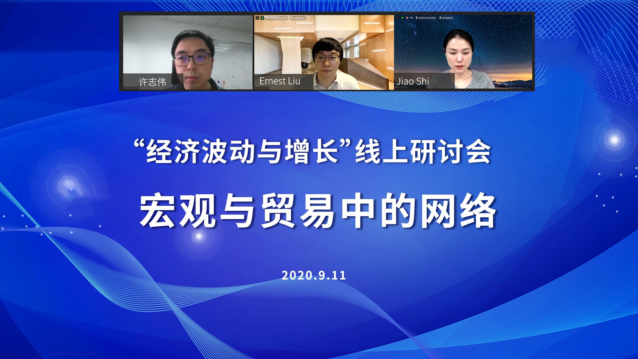 """第四期北大汇丰""""经济波动与增长""""线上研讨会举行,聚焦宏观与商业中的网络"""